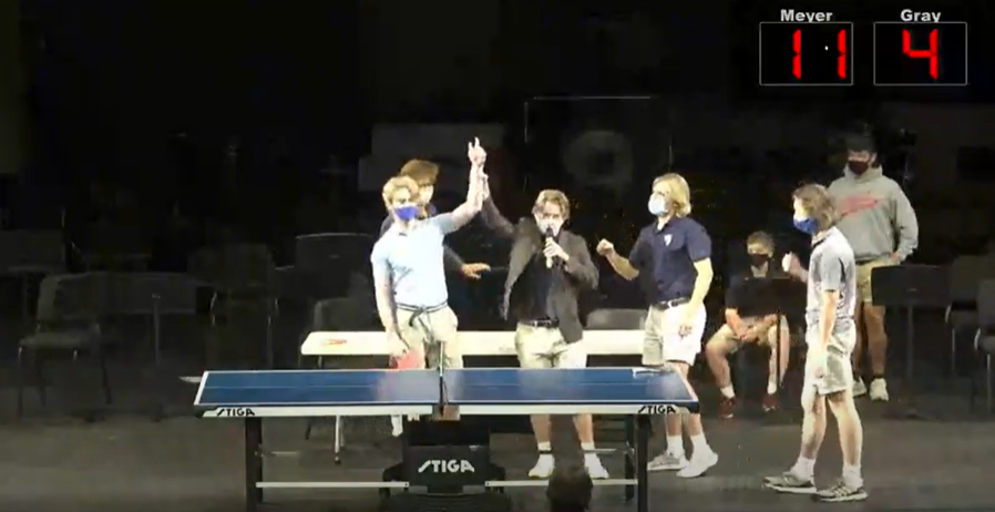 Meyer and Mauclerc Rally for the Win in Ping Pong Championship